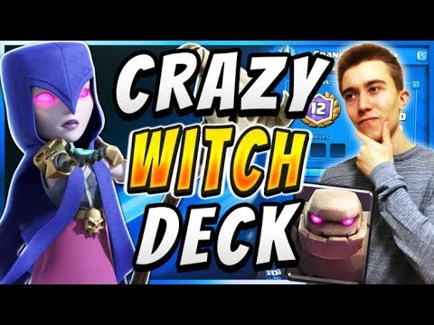 WITCH CAN'T BE STOPPED! Best New Golem Deck— Clash Royale