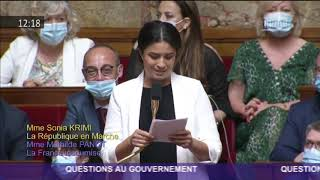 Sonia Krimi - Question à madame la Ministre en charge de l'industrie.