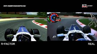 [ rFactor ] - F1 2010 Williams Comparison Lap rFactor vs Real - Spa Francorchamps
