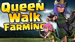 Queen Walk Farming TH12 in Clash of Clans