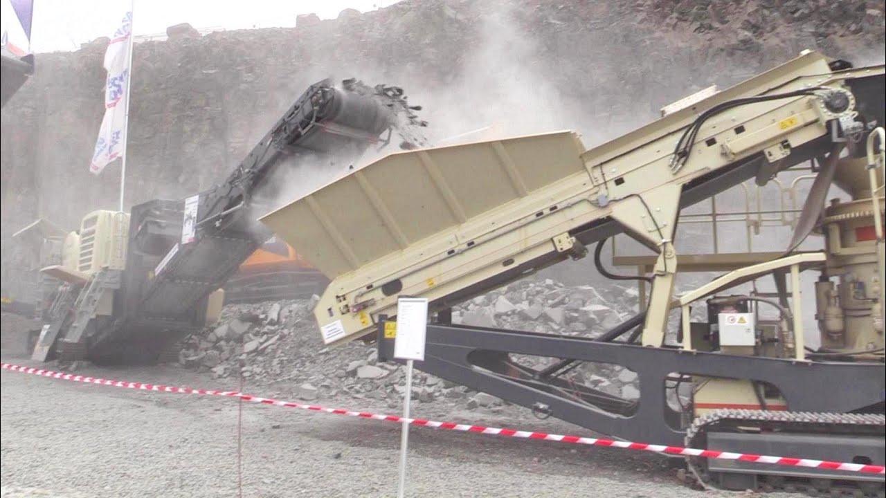 Metso Lokotrack LT106 and LT200HP Crusher Demo Show @ Steinexpo 2014