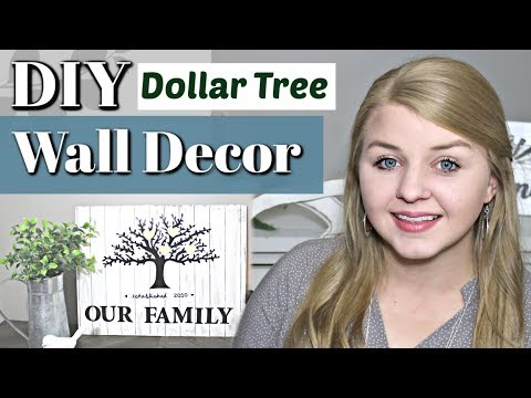 ❤ DIY Dollar Tree Farmhouse Decor ❤ | DIY Family Tree Wall Decor | Krafts by Katelyn