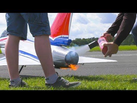 FIRE EXTINGUISHER IN USE!! RC MODEL JET CHENGDU J-10 DEMO FLIGHT*RC AIRPLANE J-10 CARF
