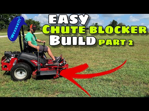 Chute Blocker for Your Mower Part 2: Ferris ISX 800, IS 600, IS700, IS2100, IS3200