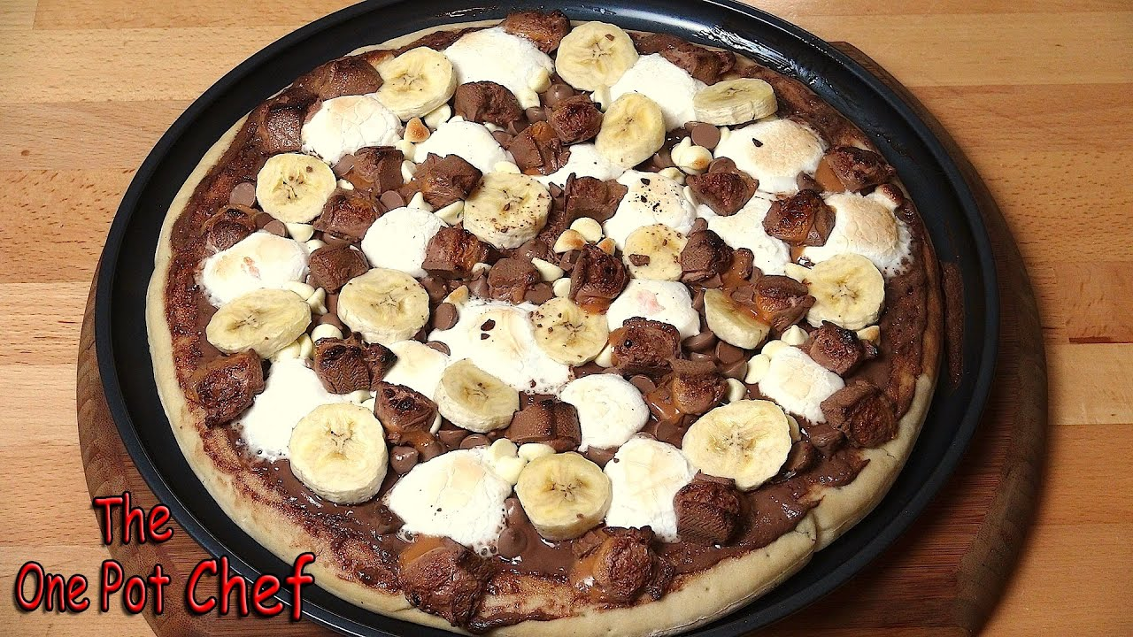 Chocolate Dessert Pizza Recipe Youtube