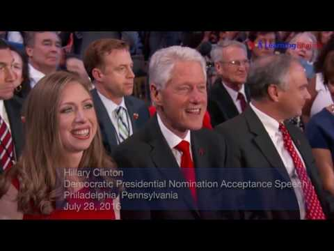 Convention Speeches of Donald Trump and Hillary Clinton