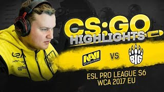 CSGO Highlights: NAVI vs BiG @ ESL Pro League S6, WCA 2017 EU