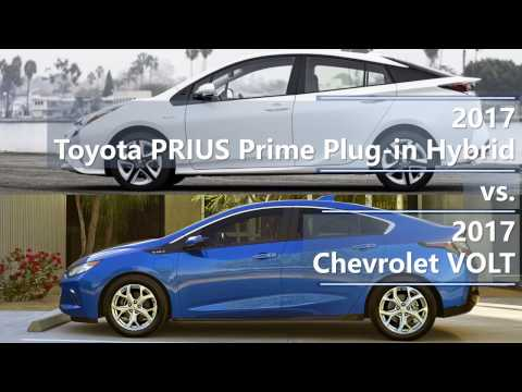 2017 Toyota Prius Prime Plug In Hybrid Vs Chevrolet Volt Technical Comparison