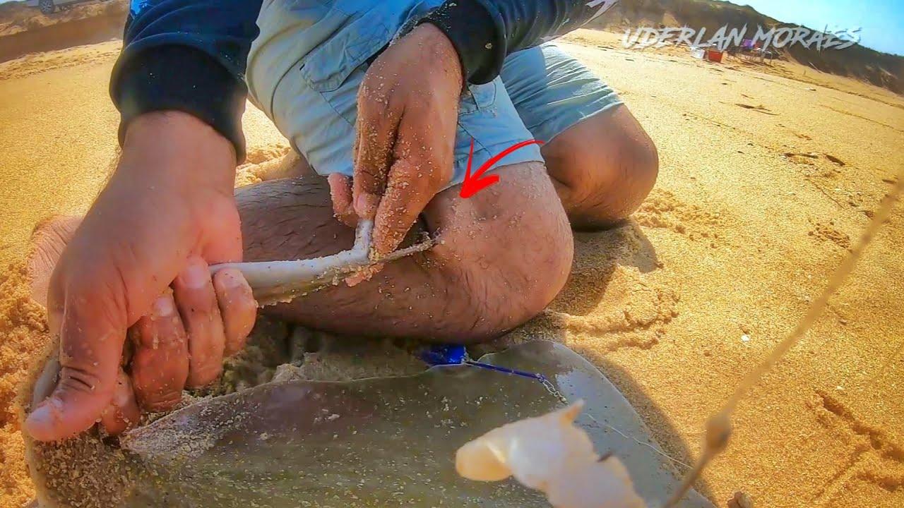FUI FERROADO POR UMA ARRAIA, UM DOS MOMENTOS MAIS TENSO DA MINHA VIDA... Pescaria!