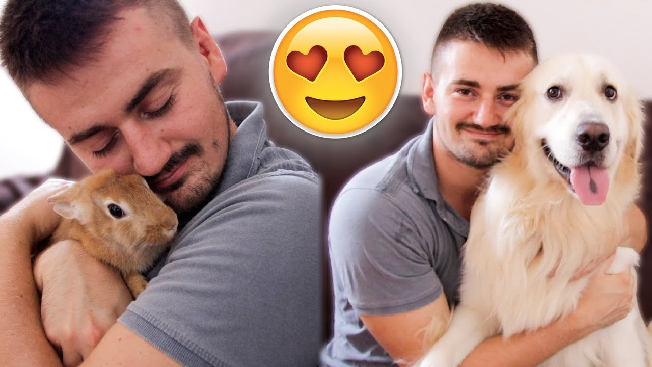 Hugging My Rabbit and Dog for Too Long [FUNNY REACTION]