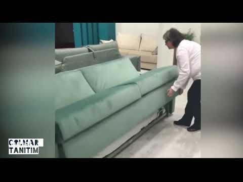 Bir tıkla ranza olan kanepe.!!
