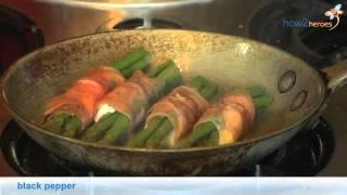 Mozzarella and Prosciutto Wrapped Asparagus