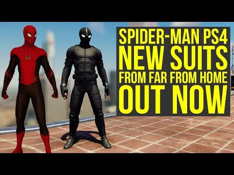 Spider Man PS4 Far From Home Suits OUT NOW With Update 1.16 (Spiderman PS4 Far From Home Suits)