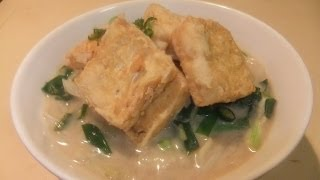 Tofu & vegetable Noodle soup