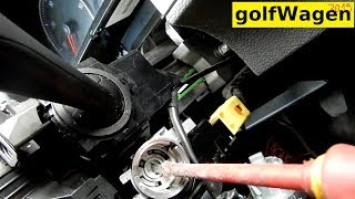 VW Golf 5 ignition lock cylinder removal