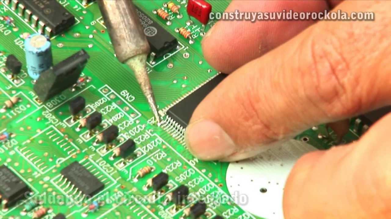 Circuito Integrado : Como cambiar un circuito integrado de superficie smd youtube
