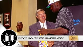 Reacting to Jerry West's comments about why LeBron James chose Lakers | The Jump | ESPN