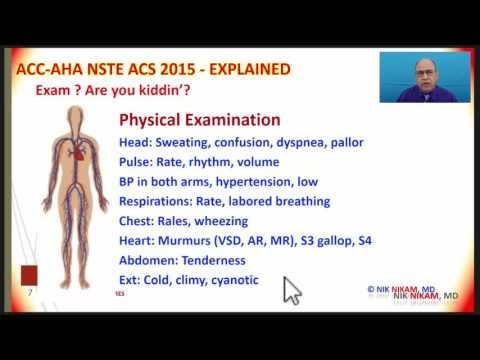 ACC AHA NSTE ACS GUIDELINES SIMPLIFIED BY NIK NIKAM MD