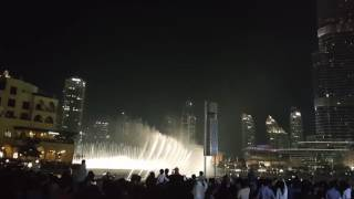 Dubai Dancing Fountain- Dec 24, 2016