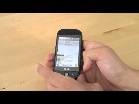 LG GW620 Test Internet