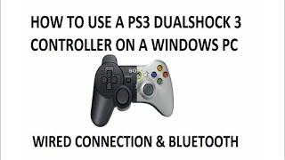 Tutorial: How to connect a PS3 controller to a PC (Without MotionInJoy) - Windows 7, 8.1 and 10