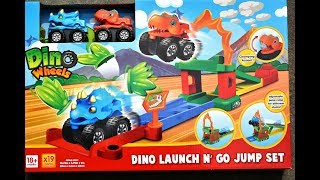 Dino Jump And Go Playset Chomping Action T Rex Dinosaur Wheels