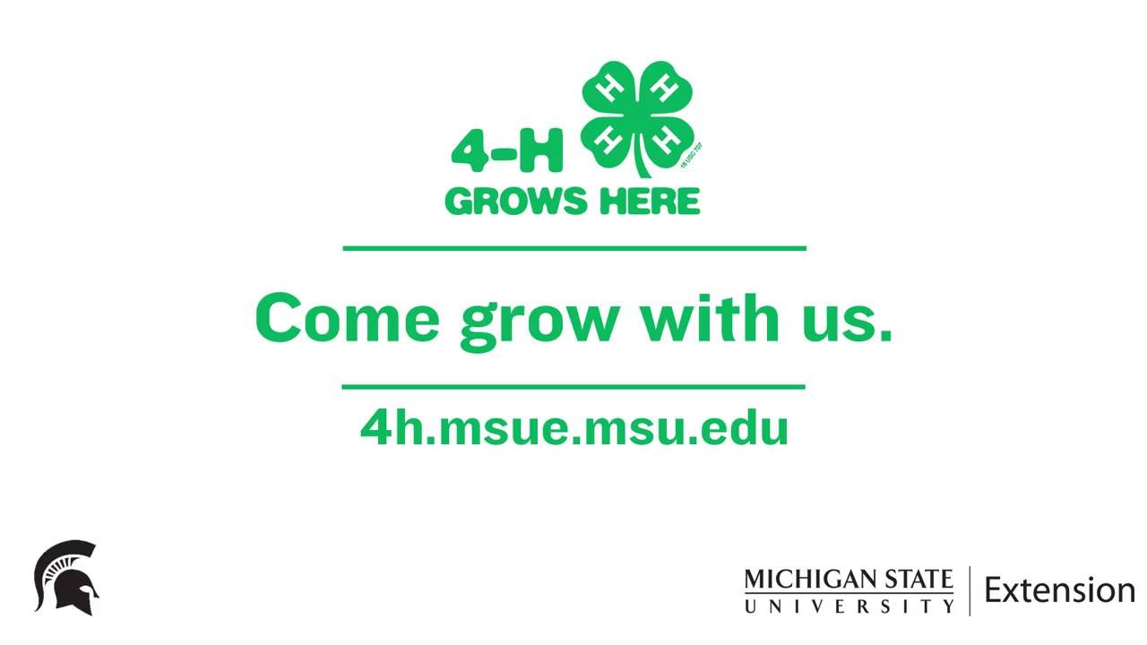 4-H Grows Here Michigan Promo :15 version - YouTube