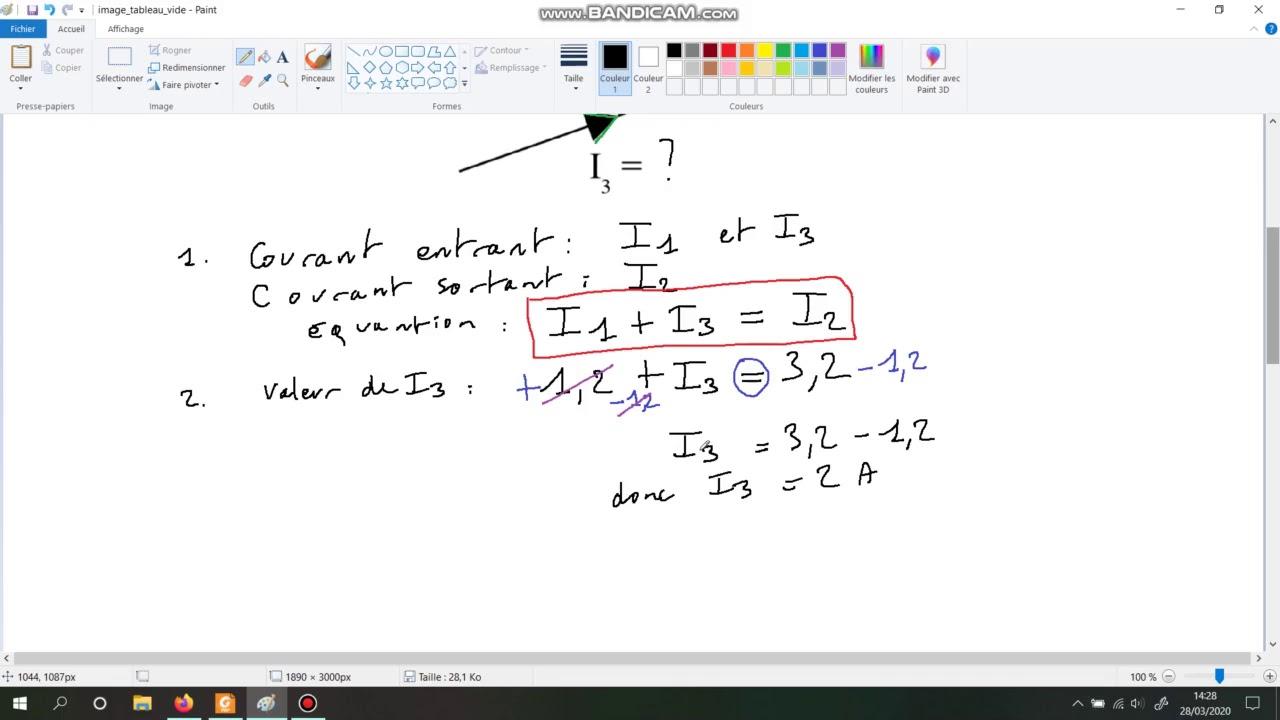exercices corrigés sur la loi des noeuds - YouTube
