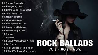 Rock Ballads 70's - 80's - 90's | Best Rock Ballads of All Time