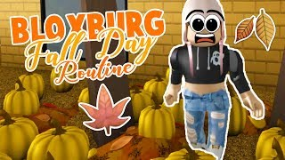 Bloxburg Day Routine | Going to the Pumpkin Patch and Pumpkin Spice | Roblox Roleplay
