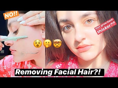 Facial Hair Removal & After Care At Home - Techniques for beginners, teenagers & adults.