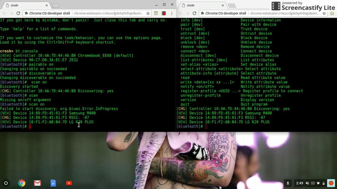 Hack anyones bluetooth using crosh!!!