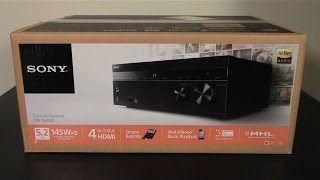 SONY STR-DH550 AV RECEIVER Review Unboxing A Look at What's in the Box | amusement420