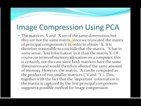 PCA SVD in image compression
