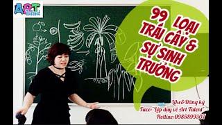Hướng dẫn vẽ trái cây cực dễ cho bé, Học vẽ trái cây cực hay