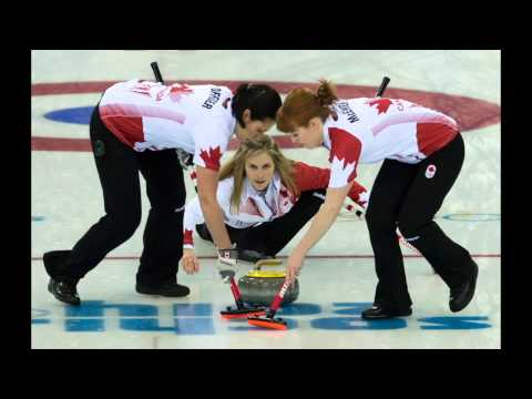 Jennifer Jones on the final shot to win Olympic gold
