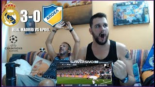 REAL MADRID VS APOEL 3-0 | REACCION | CHAMPIONS LEAGUE | HIGHLIGHTS