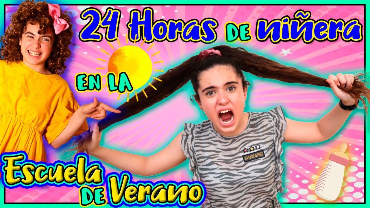 24 HORAS siendo NIÑERA en la ESCUELA de VERANO! CUIDO los BEBÉS de CATALINA y PASA ESTO! TERMINA MAL