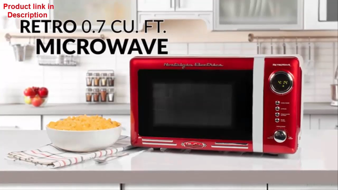 Unboxing Nostalgia Electrics My First Red Microwave Review