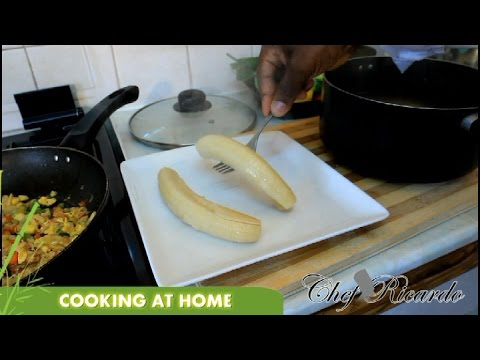How To Cook Green Banana At Home | Recipes By Chef Ricardo