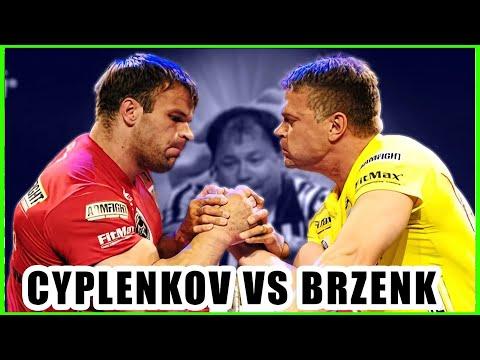 JOHN BRZENK VS DENIS CYPLENKOV (2008-2010 ARM WRESTLING)