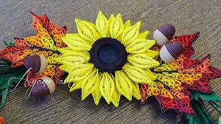Quilling Tutorial - Sunflower (Fall Wreath - part 3 of 5)