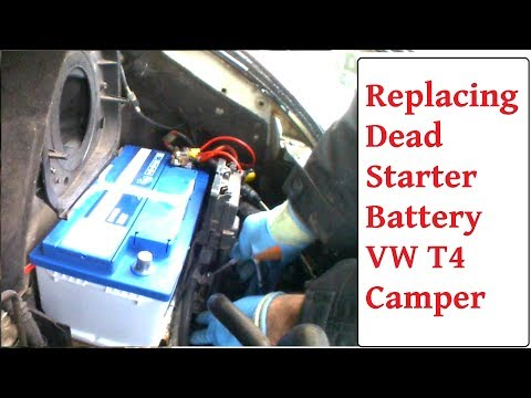 Replacing Starter Battery VW T4 Dead Starter Battery Replacement