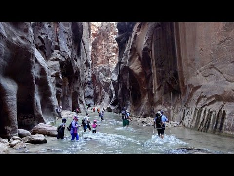 Hiking in Zion NP, Utah: Angels Landing & Virgin Narrows in 4K Ultra HD