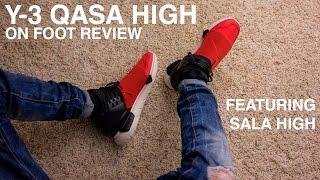 Adidas Y-3 Qasa High (Royal Red/Black