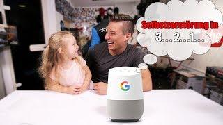 3 Jähriges Kind reagiert auf Google Home Easter Eggs | Unboxing - Review - Test [Deutsch]