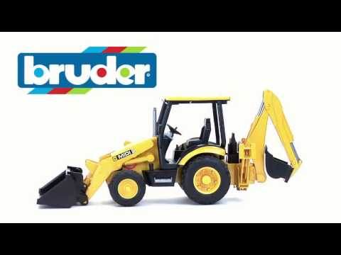 Экскаватор – погрузчик колёсный JCB MIDI CX, 02-427 02427 Bruder Спецтехника игрушка подарок