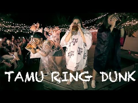 TEXAS A&M RING DUNK PARTY || CRAZY CONTEST ||