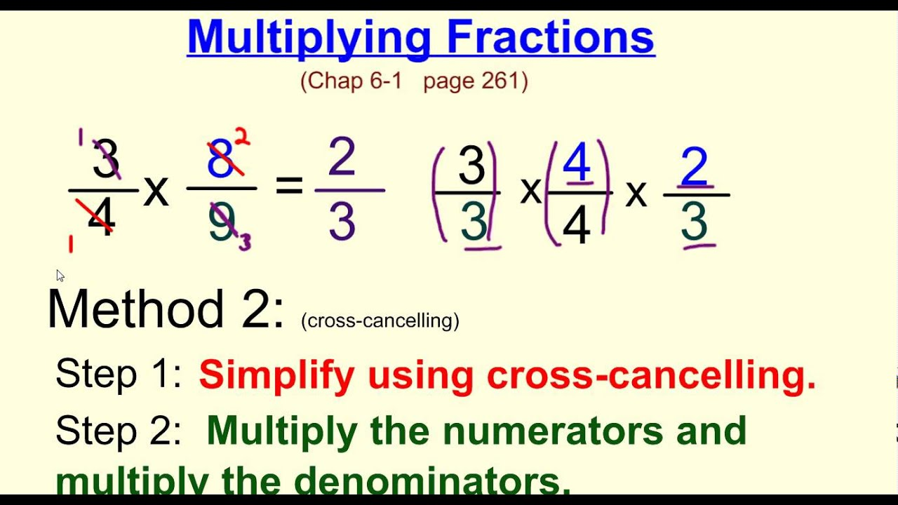 worksheet Multipling Fractions multiplying fractions w cross canceling youtube canceling