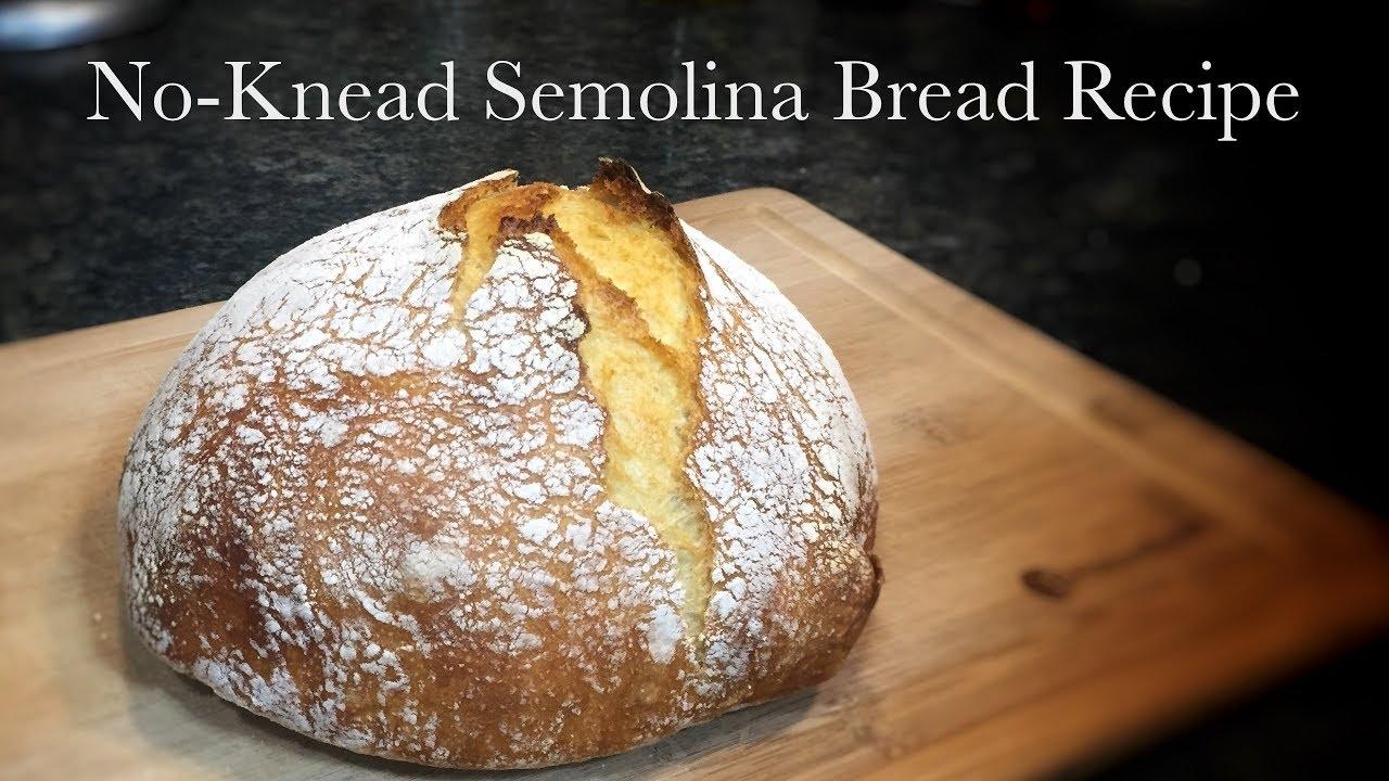 No-Knead Semolina Bread Recipe - YouTube